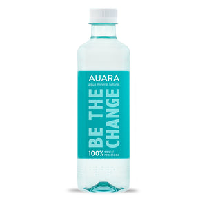 AUARA pack 24 botellas 100% material reciclado r-PET de 501 ml