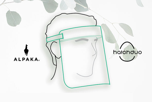 ALPAKA Sponsors Face Shield Donation Project by Hatch Duo