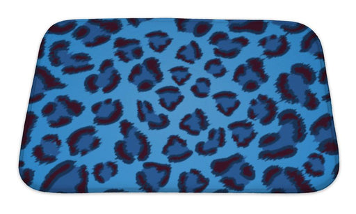 Bath Mat, Blue Leopard Pattern - emeralds-gift-palace