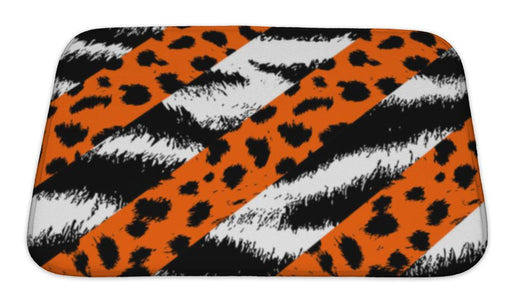 Bath Mat, Leopard Cheetah And Tiger Skin Pattern - emeralds-gift-palace
