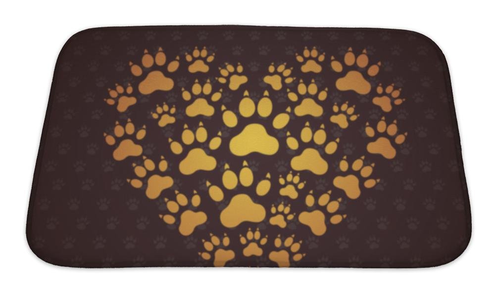 Bath Mat, Heart Of The Dog Traces - emeralds-gift-palace