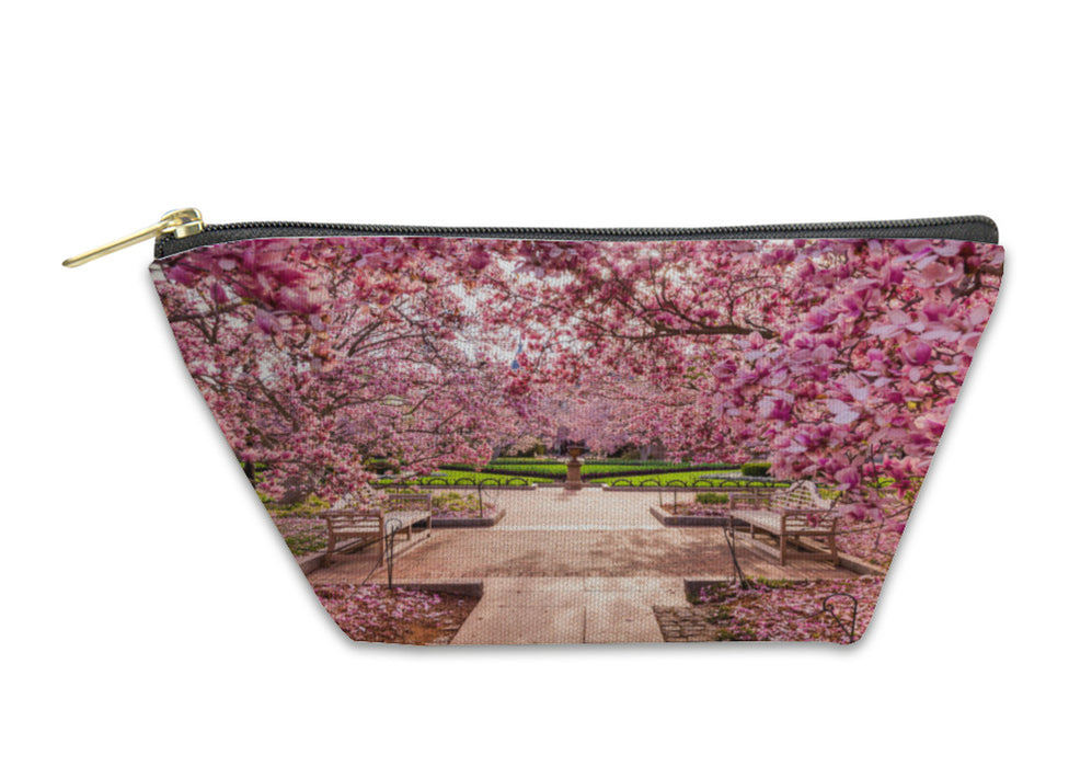 Accessory Pouch, Smithsonian Washington Dc Spring Foliage Near National Mall - emeralds-gift-palace