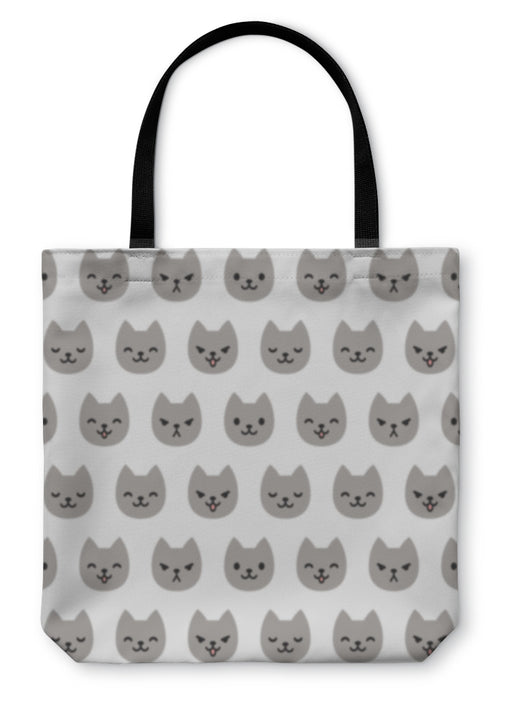 Tote Bag, Cat Pattern - emeralds-gift-palace