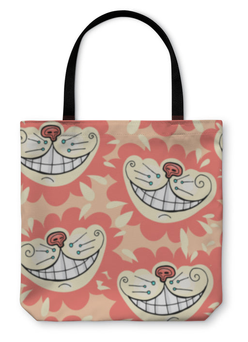 Tote Bag, Smile Of A Cheshire Cat For Tale Alice In Wonderland - emeralds-gift-palace