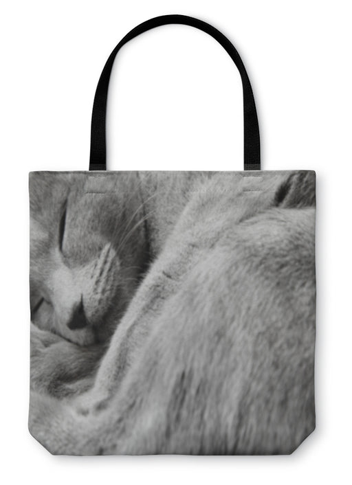 Tote Bag, Sleeping Cat - emeralds-gift-palace