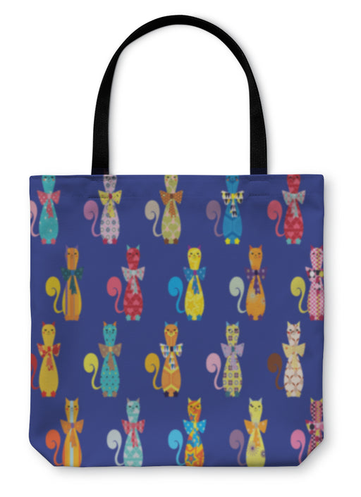 Tote Bag, With Decorative Elegant Cats - emeralds-gift-palace