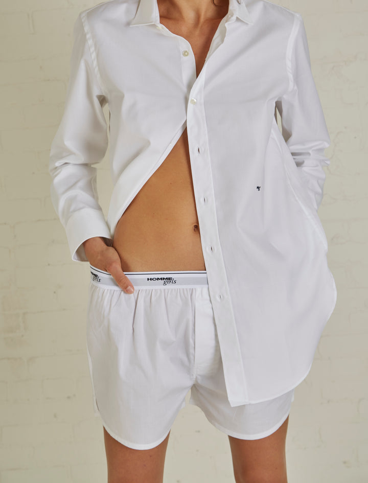 Hommegirls Original White Boxer Shorts