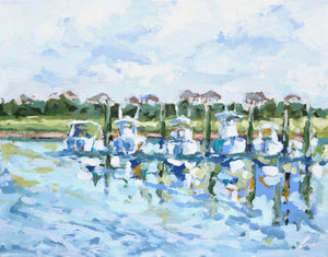 Docked at Figure Eight- 14x11