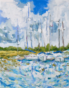 Boats at Bohicket- 16x20