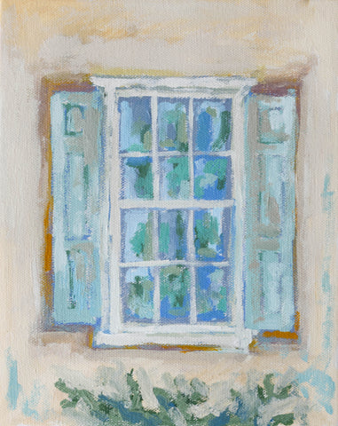Window with Vine- 8x10, Comes Framed