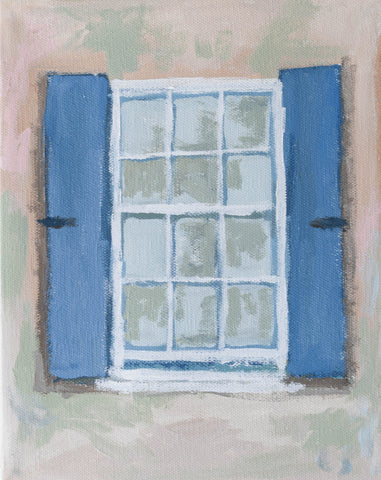 Periwinkle Window- 8x10, Comes Framed