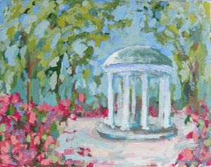 Old Well in Bloom- 14x11
