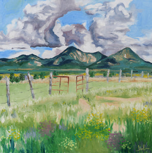 In a Field in Taos PRINT