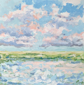 When the Marsh Turned Blush- 18x18