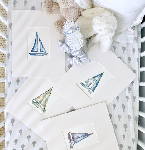Sailboat prints- 6x8