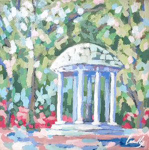 Old Well with Azaleas PRINT