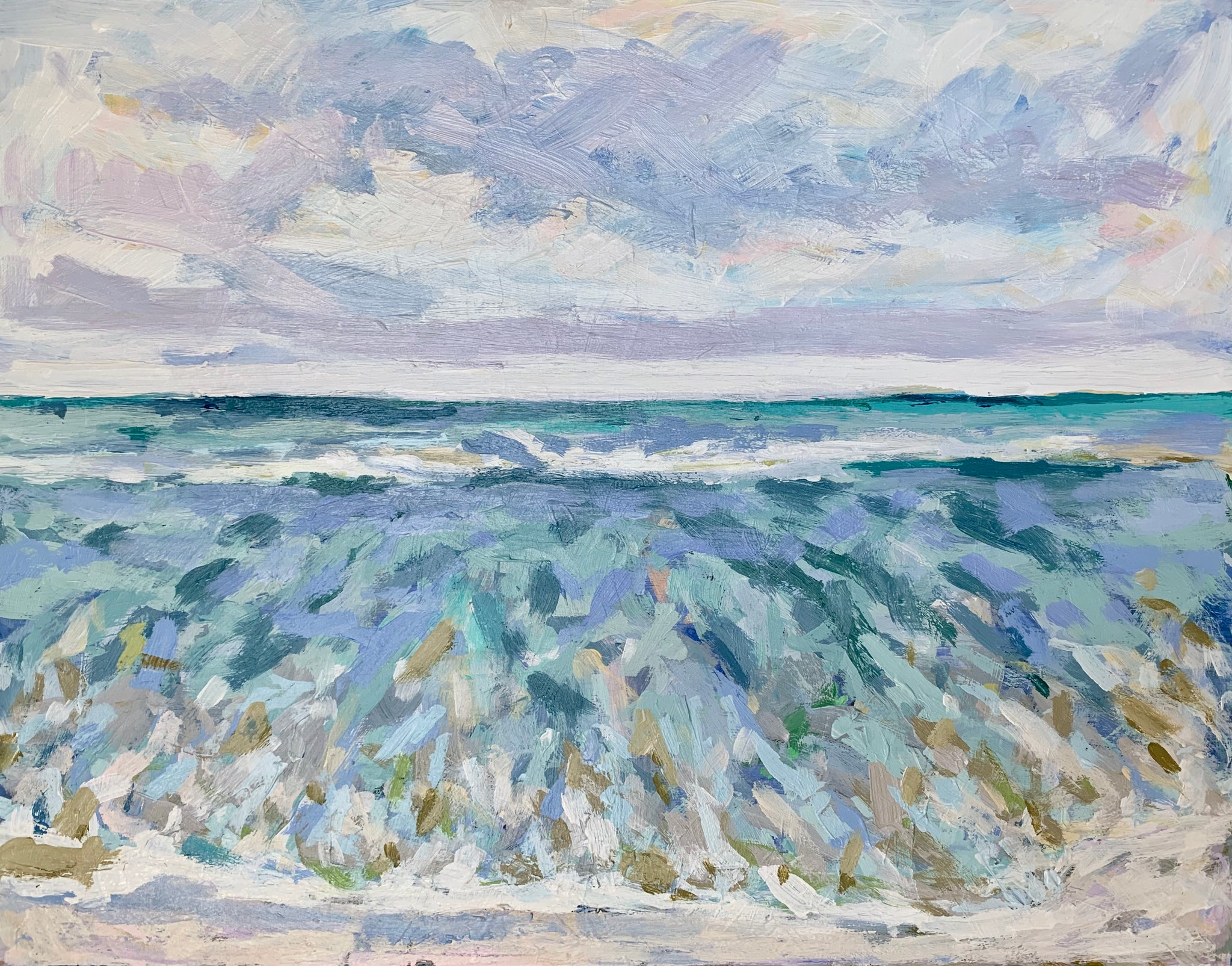 Toes in the Wild Dunes Water- 14x11