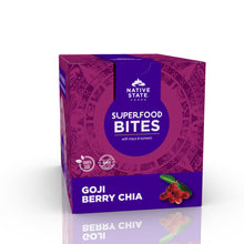 Load image into Gallery viewer, Superfood Snack Bites, Goji Berry Chia, 8ct