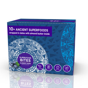 Organic Superfood Snack Bites, Blueberry Ginger, 8ct-Subscription (Save 10%)
