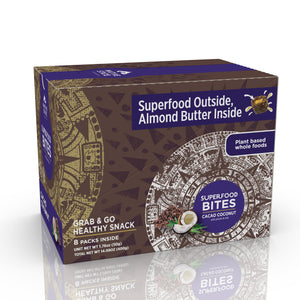 Superfood Snack Bites, Cacao Coconut, 8ct