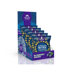 Superfood Snack Bites, Blueberry Ginger, 8ct