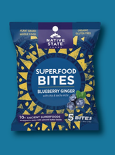Load image into Gallery viewer, Superfood Snack Bites, Blueberry Ginger, 8ct