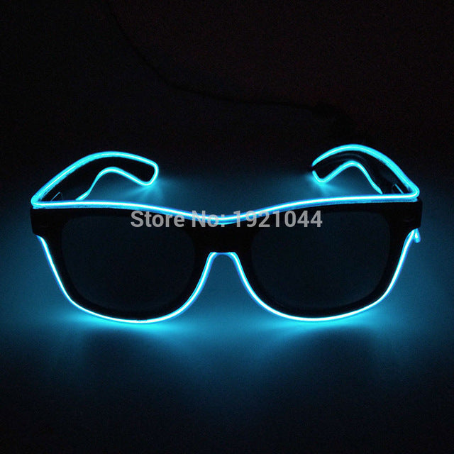 Best Sound Activated EL wire Led Glasses | The part starts at lights ...