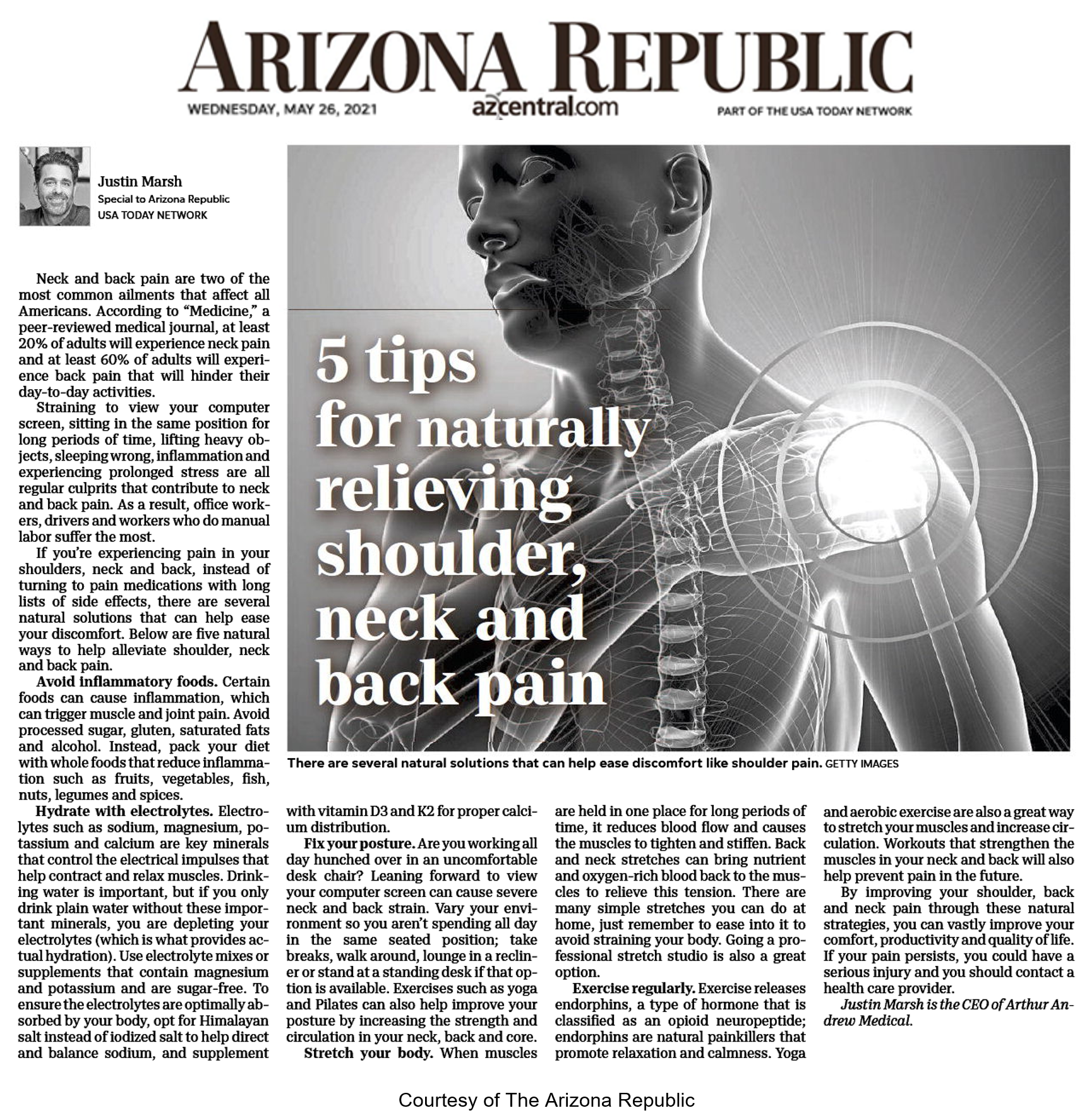 5 Tips for Naturally Relieving Shoulder Neck and Back Pain