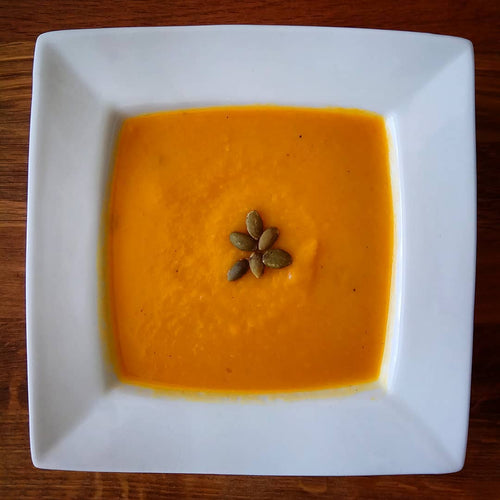Crema de calabaza, coco y curry - Srta O'food