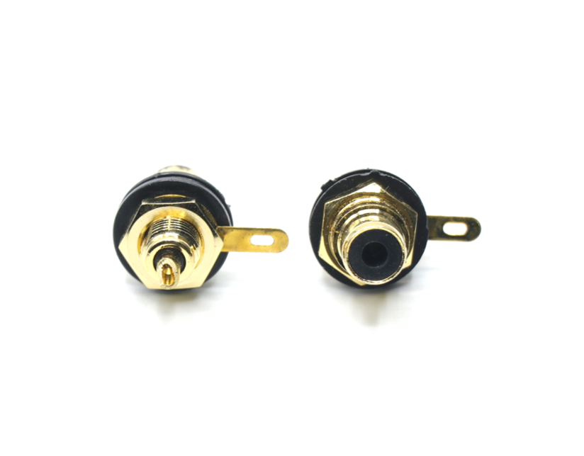 2PK Panel Mount Female RCA Connector