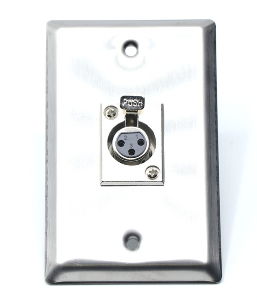 XLR Female Wall Plate