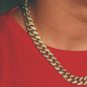 12mm Gold Cuban Chain