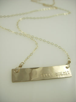 Free Spirit Bar Necklace
