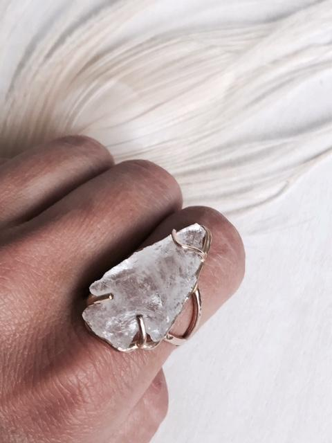 Crystal Arrowhead Ring