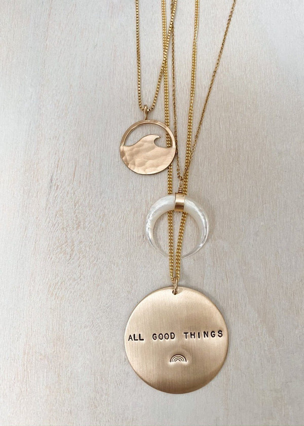 All Good Things Coin Necklace - James Michelle