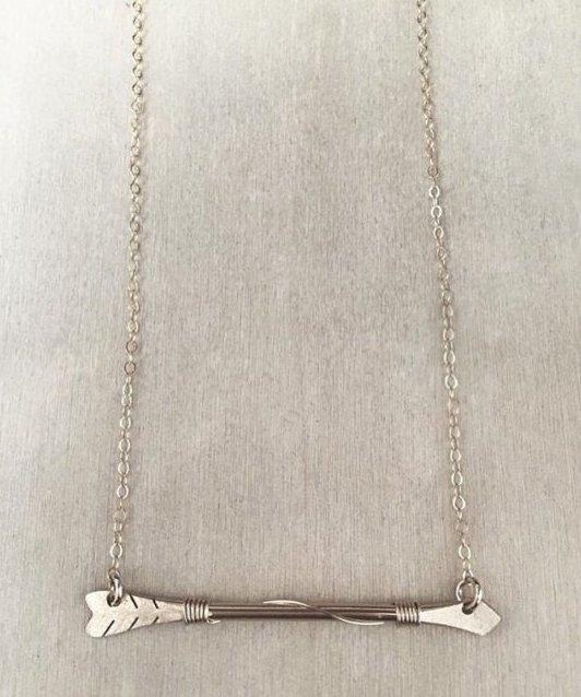 Arrow Wire Bar Necklace - James Michelle
