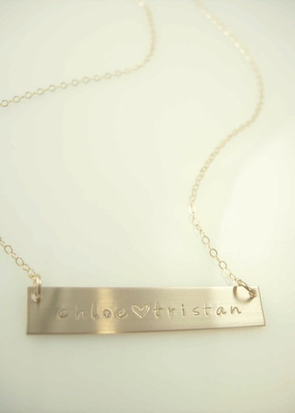 Bar Necklace - James Michelle