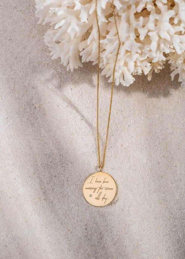 Diamond Quote Coin Necklace - James Michelle