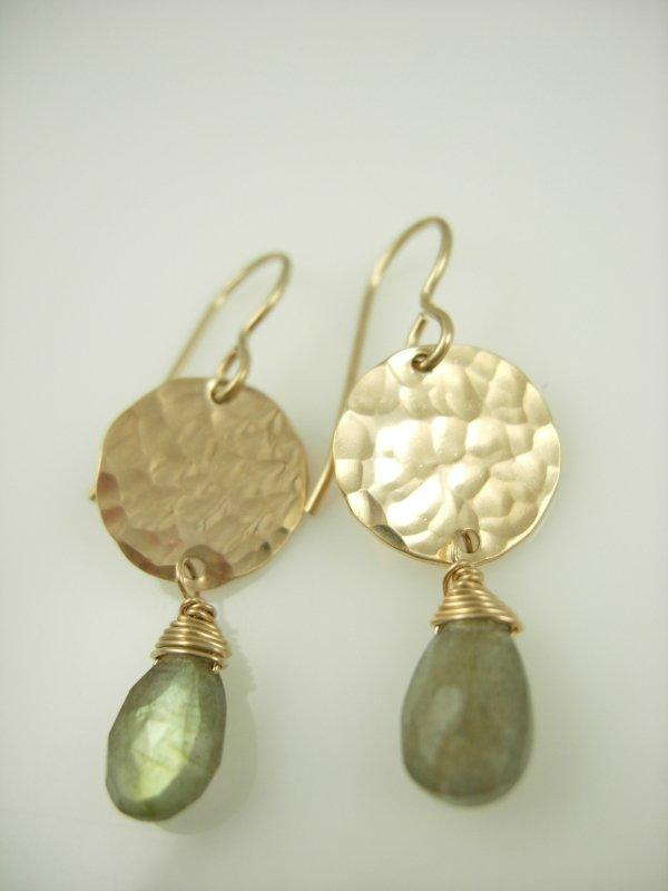 Disc Gem Drop Earrings - James Michelle