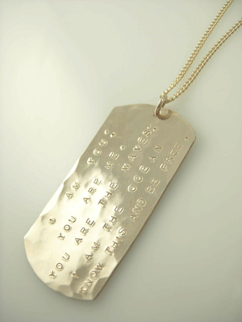 Dog Tag Necklace - James Michelle
