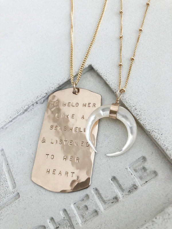 Dog Tag Necklace Vertical - James Michelle