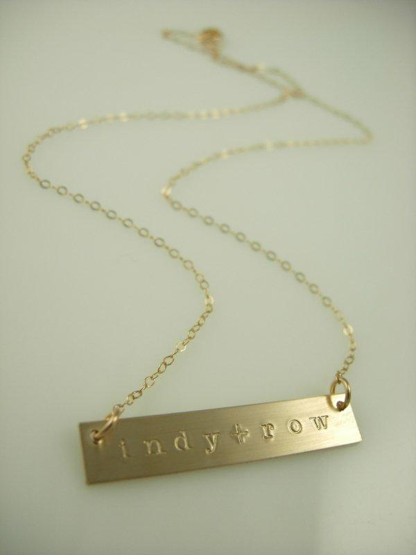 Erin Bar Necklace - James Michelle