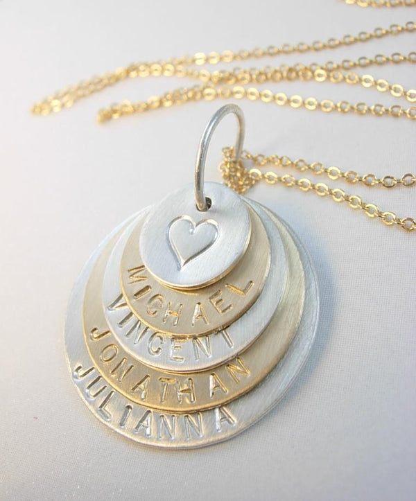 Family Stacked Necklace - James Michelle