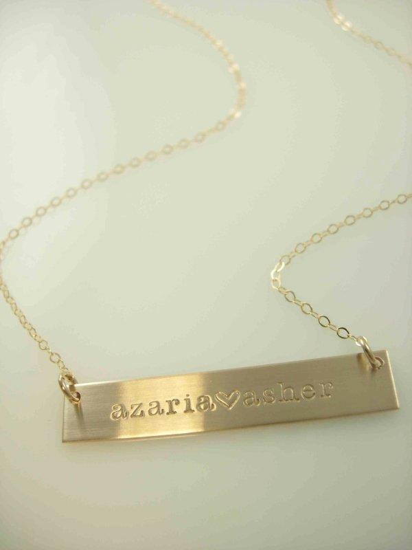 Gold Bar Necklace - James Michelle