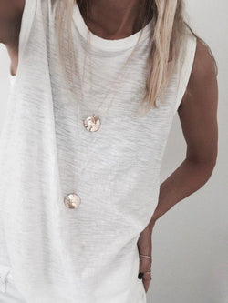 Hammered Coin Necklace - James Michelle