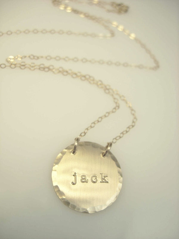 Hand Stamped Necklace - James Michelle