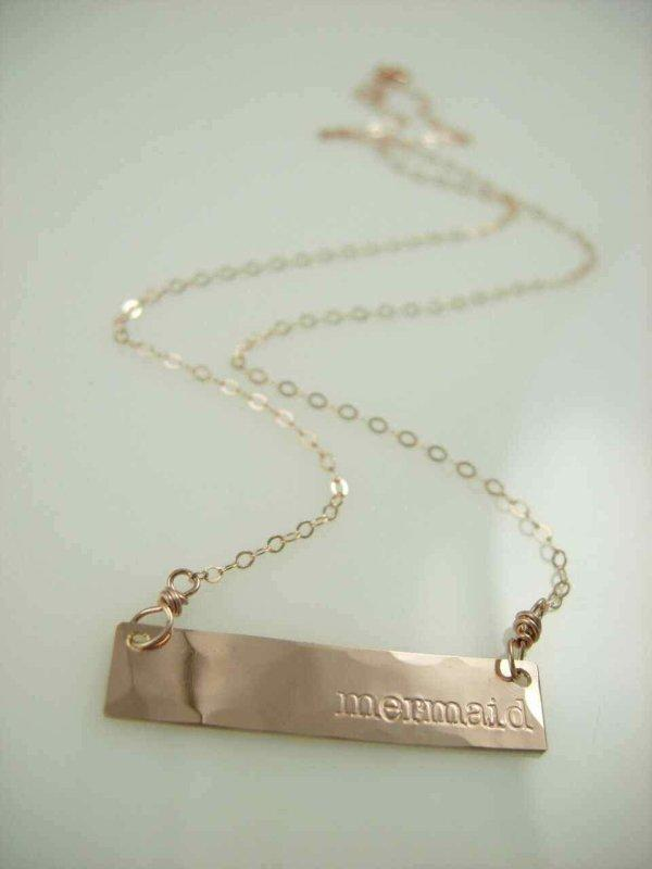 Mermaid Bar Necklace - James Michelle