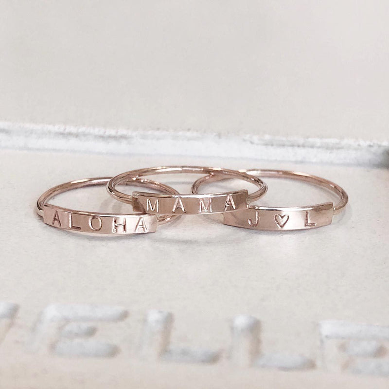 Midi Word Ring - James Michelle