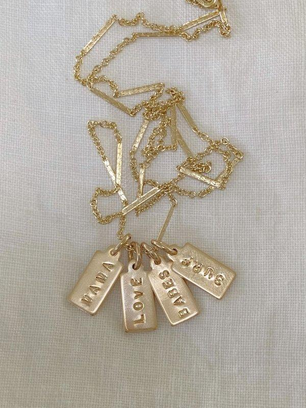 Mini Tag Necklace - James Michelle