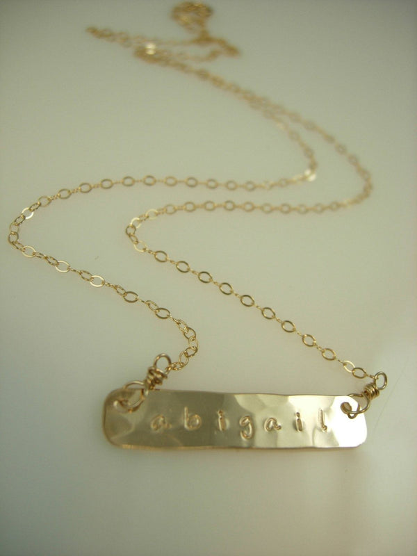Organic Gold Bar Necklace - James Michelle